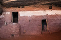 Moon house ruin interior detail view of anasazi dwelling on cedar mesa Stock Image