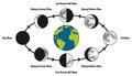 Moon Life Cycle Diagram