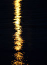 Moon light reflection on calm but rippled water Stock Image