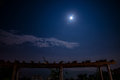 Moon in night the largest was so amazing i took the pictures of the largest with successful and cheerful feeling Royalty Free Stock Photo