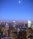 Moon over Manhattan Royalty Free Stock Photo