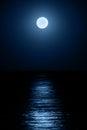 Moon over sea Royalty Free Stock Photo