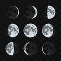 Moon Phases Vector Set