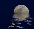 Moon reflections water Royalty Free Stock Photo