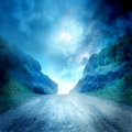 Moon road Royalty Free Stock Image