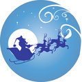 Moon and Santa clause Stock Photography
