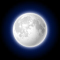 Moon singl realistic illustration Stock Photos