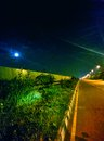 Moon spectacular near velachery sutherland Royalty Free Stock Photos