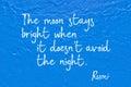 Moon stays Rumi