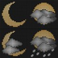 Moon weather LED screen Royalty Free Stock Photo