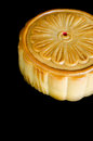Mooncake on black isolate background Stock Image