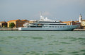Moonlight motor yacht venice italy june the luxury moored on the giudecca canal in on june when built she was one of the Stock Photo