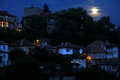 Moonlight Night in Veliko Tarnovo Stock Image