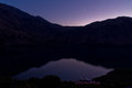 Moonlight over the Kournas lake, island of Crete