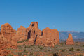 Moonrise at Arches National Park Royalty Free Stock Images