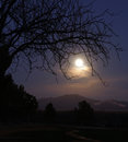Moonrise over the Santa Rita mountains Stock Photos