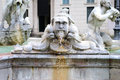 The moor fountain fontana del moro piazza navona rome is a located at southern end of in italy Royalty Free Stock Photo