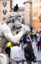 Moor fountain fontana del moro statue is a located at the southern end of the piazza navona in rome italy Stock Photos