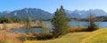 Moor lake barmsee bird sanctuary lake shore germany Stock Photos