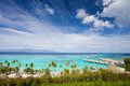 Moorea island coastline Royalty Free Stock Images