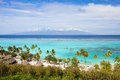 Moorea island landscape Royalty Free Stock Photos
