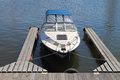 The moored boat at mooring Stock Photos