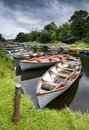 Moored boats Stock Photo