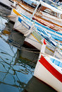 Moored fishing boats Royalty Free Stock Image