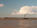 Moored Sea Vessel London Barge In Black Water Tide Out Maldon