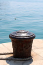 Mooring Bollard Royalty Free Stock Photo