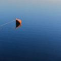 Mooring buoy on a lake at sunrise Royalty Free Stock Images