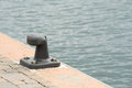 Mooring cleat in the port of genoa Stock Photography