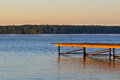 The mooring on the lake morning Royalty Free Stock Photo