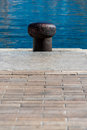 Mooring point at vieux port old port in marseille france Stock Image