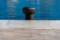 Mooring point at vieux port old port in marseille france Royalty Free Stock Photo