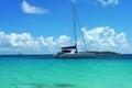 The Moorings charter yacht near Tortola, British Virgin Islands Royalty Free Stock Photo