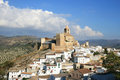 Moorish castle of Andalusian Iznajar, Spain Stock Images