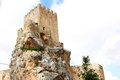 The Moorish Castle of Andalusian town Zuheros Royalty Free Stock Photo