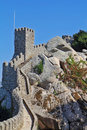 The Moorish castle in Portugal Stock Image