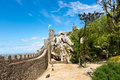 Moorish castle scenery - Sintra, Portugal Royalty Free Stock Photo