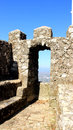 Moorish castle window to the famous of the moors Royalty Free Stock Image