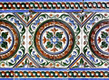 Moorish ceramic tiles in the real alcazar seville Royalty Free Stock Image