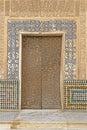 Moorish door in the patio del mexuar court of the council chamber la alhambra granada spain Stock Image