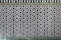 Moorish Islamic geometric patterns inside palace Royalty Free Stock Photo