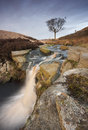 Moorland waterfall on the of the yorkshire dales Royalty Free Stock Image