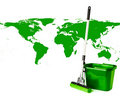 Mop and bucket Royalty Free Stock Images
