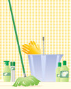 Mop and bucket Royalty Free Stock Image