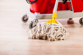 Mop cleaning detail Royalty Free Stock Photo