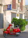 Moped in taranto town puglia Royalty Free Stock Photography