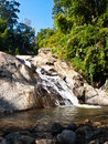 Mor pang waterfall in pai mae hong son thailand Royalty Free Stock Photo
